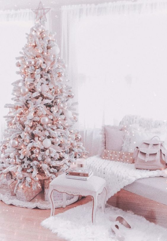 36 Rose and Gold Christmas Tree Decorating Ideas 2018