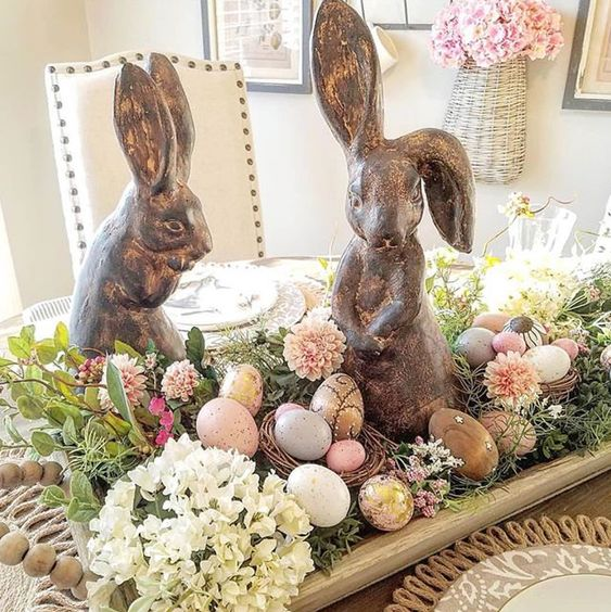 40+ Beautiful Easter Table Centerpieces Home Decoration Ideas